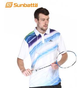100% Polyester Fiber Sports T-Shirt for Badminton (SMT-805)