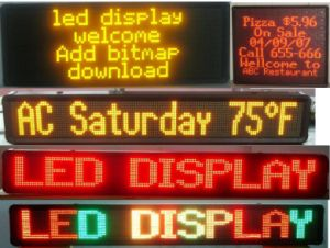 Energy Saving Portable LED Scrolling Display for Store Advertising (P10) pictures & photos