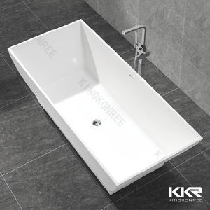 Wholesale Price High Quality Freestanding Rectangular Stone Bath Tubs pictures & photos