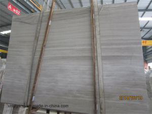 White / Grey Wood Grain Marble for Slab or Countertop pictures & photos