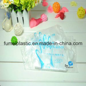 PE Gloves Plastic Disposable Glove on Bag