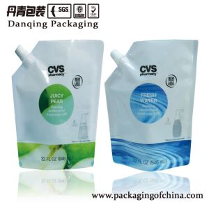Danqing Printing Laundry Detergent Packaging Bag with Corner Spout pictures & photos