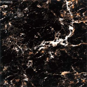 Black Color Super Crystal Porcelain Tile pictures & photos