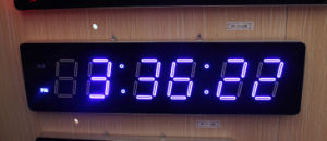 Huge Large Big Oversized Digital LED Clock pictures & photos