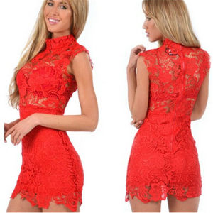 2015 Slim Fitting Sexy Lace Club Party Night Dress (50171) pictures & photos