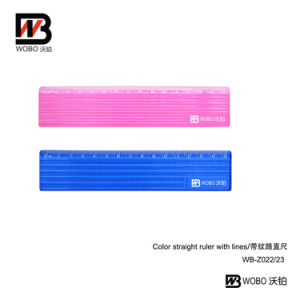 Office Stationery Straight Plastic Ruler with Lines for School Supply 2016