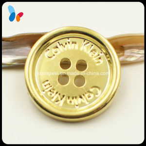 Custom Plating Gold Round Four Holes ABS Plastic Sewing Button pictures & photos