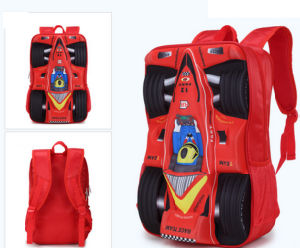 3D School Bag of Racing Car for Student pictures & photos