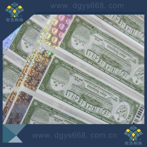 Anti-Counterfeiting Paper Sticker with Hot Stamping pictures & photos