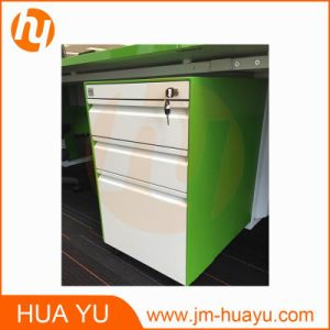 High Quality Mobile Filing Cabinet (white & grass green) pictures & photos