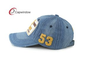 Hot Sell Washed Demin Baseball Sport Hat with Applique Logo pictures & photos