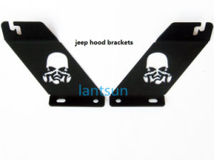 "20"" LED Light Bar Skull Hood Brackets for Jeep Wrangler pictures & photos"