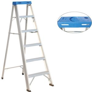 Blue Folding Step Stool Ladder with 5 Steps pictures & photos