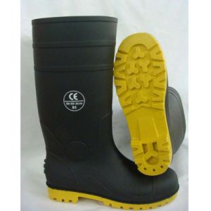Good Quality China Factory Industrial PVC Rain Work Safety Boots pictures & photos