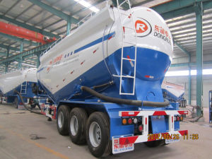 55cbm Bulk Cement Tanker Truck Semi Trailer by Hubei Dongrun Brand