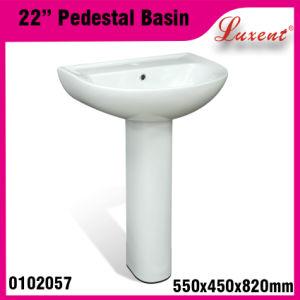 High Quality Stoneware Garden Hot Sale Classic Hair Wash Pedestal Sink