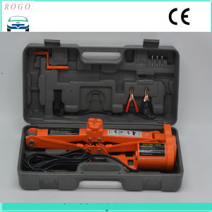 High Quality 3 Tons Simple Electric Scissor Floor Lift Car Jack pictures & photos