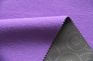 High Quality Flower Elastic Embossed Softshell Fabric pictures & photos