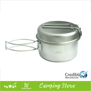 Ultraight Titanium Camping Pot with Lid pictures & photos