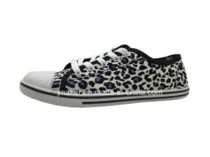 Leopard Printing Canvas Shoe for Lady (3545-L) pictures & photos