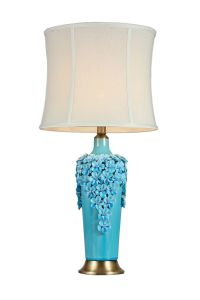 Light Cyan Flower Ceramic Base Table Lamps (MT112078S) pictures & photos