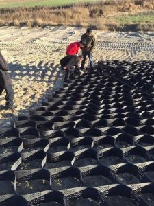 HDPE Geocell for Roadbed, Slope, Construction pictures & photos