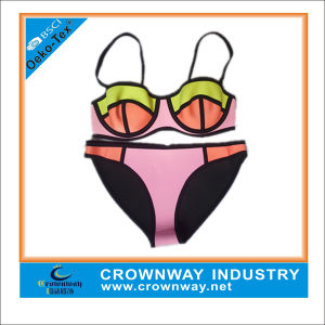 Custom Womens Unique Sexy Neoprene Bikini Swimsuits with Plus Size pictures & photos
