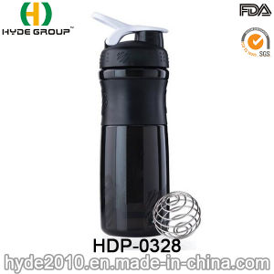 800ml BPA Free Plastic Shaker Bottle with Stainless Ball, 2017 Plastic Protein Shaker Bottle (HDP-0328) pictures & photos