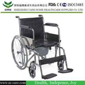 Aluminium Lightweight Folding Commode Chair, Folding Toilet Chair Elderly pictures & photos