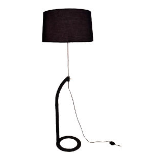 Very Nice Metal Modern Hotel Bedroom Design Black Standing Floor Lamp Light Lighting in Adjustable Height, Black Fabric Shade pictures & photos
