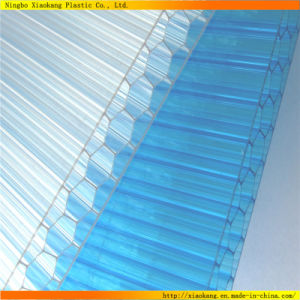 UV Coated Polycarbonate Hollow Sun Panel for Building Material (XK-120)