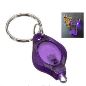 UV Detector LED Flashlight Key Holder with Logo Printed (3032) pictures & photos