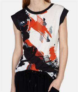 Bold Paint Printed Short Sleeved T-Shirt pictures & photos