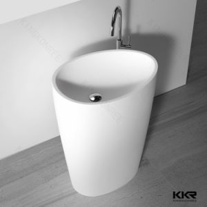 Modern Design Artificial Stone Solid Surface Pedestal Basin pictures & photos