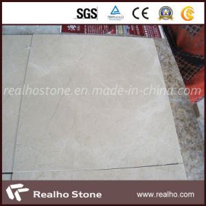 Cream Marfil Super Thin Composite Marble Tiles for Flooring