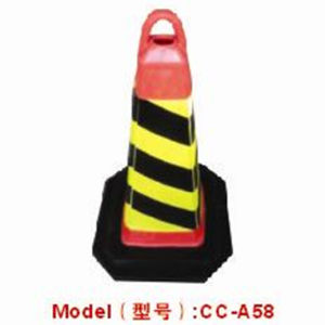 70cm Rubber Road Safety Warning Cone with Reflective Tapes pictures & photos