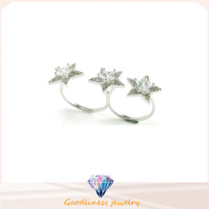925 European Popular Silver Star Ring Jewelry Glod Plating Rings (R10450) pictures & photos