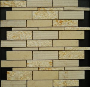 Natural Beige Stone Mosaic of Building Wall (FYSD101) pictures & photos