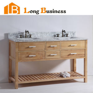 China Double Sink Bathroom Ready To Assemble Vanity With