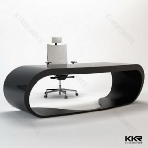 Customize Modern Office Furniture Acrylic Solid Surface Reception Desk pictures & photos
