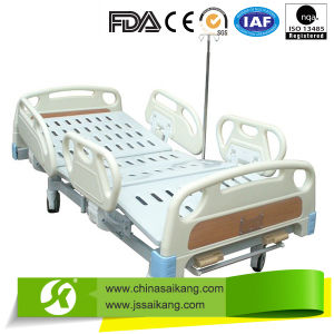 Manual Home Care Bed with Central Lock (CE/FDA/ISO) pictures & photos