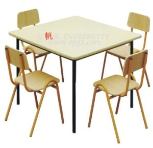 Sf-21k2-Wooden Double Desk and Chair for Kids pictures & photos