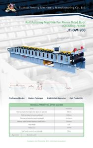 Roll Forming Machine for Pierce Fixed Roof /Cladding Profile