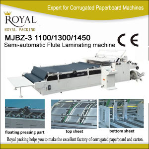 Mjbz-3 Semi-Automatic Flute Laminating Machine pictures & photos