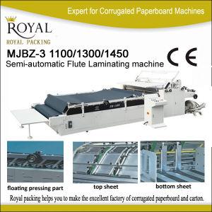 Mjbz-3 Semi-Automatic Flute Laminating Machine pictures & photos