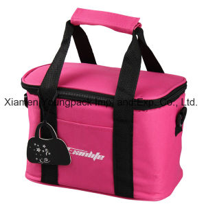 Promotional Hot Pink 600d Polyester Insulated Lunch Cooler Bag pictures & photos