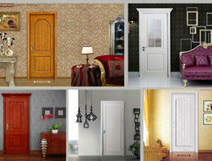 Modern Moulded/Flush White American Panel Interior Solid Wooden Door (WDM-050) pictures & photos