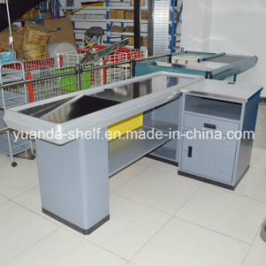 New Design Metal Cashier Checkout Counter for Supermarket pictures & photos