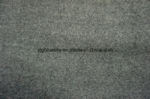 Grey & White Wool Fabric with Twiil