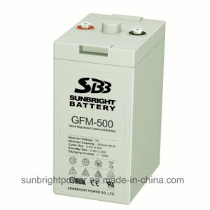 CE UL Approve 2V500ah Rechargeable Deep Cycle Solar Power 2V Lead Acid Batteries pictures & photos